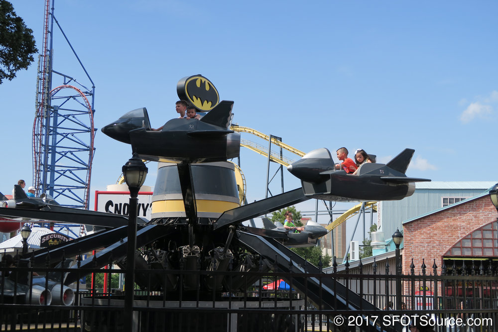 Riders control the height of their individual ride vehicles.