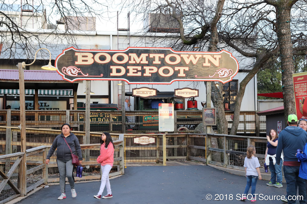 Another look at Boomtown Depot's main entrance.