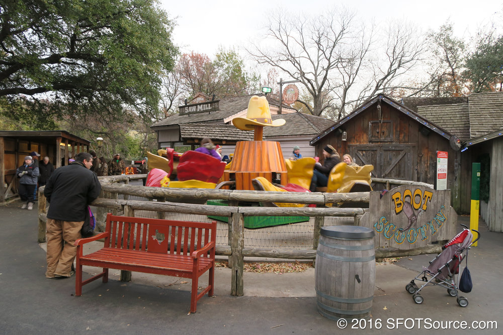 Boot Scootin' is located near the exit of New Texas Giant.