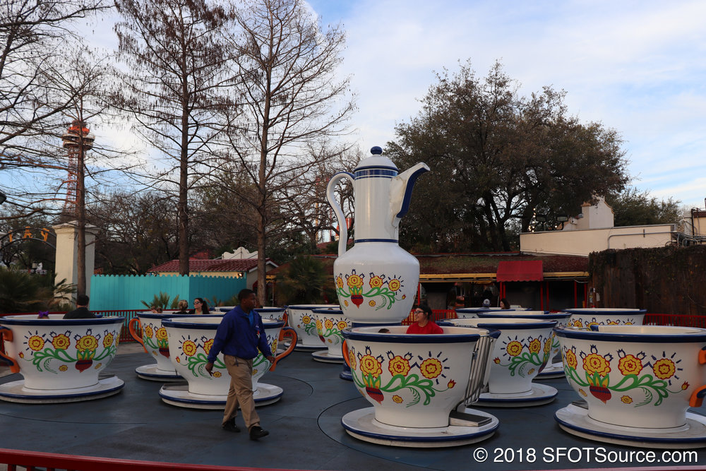 Guests control the spinning speed of their cups.