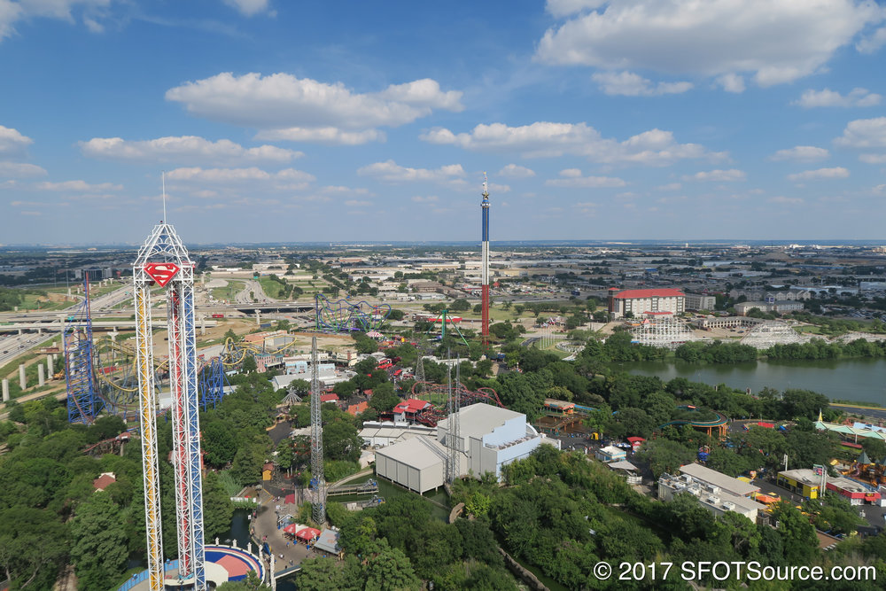 A view of the park from the top of Oil Derrick.