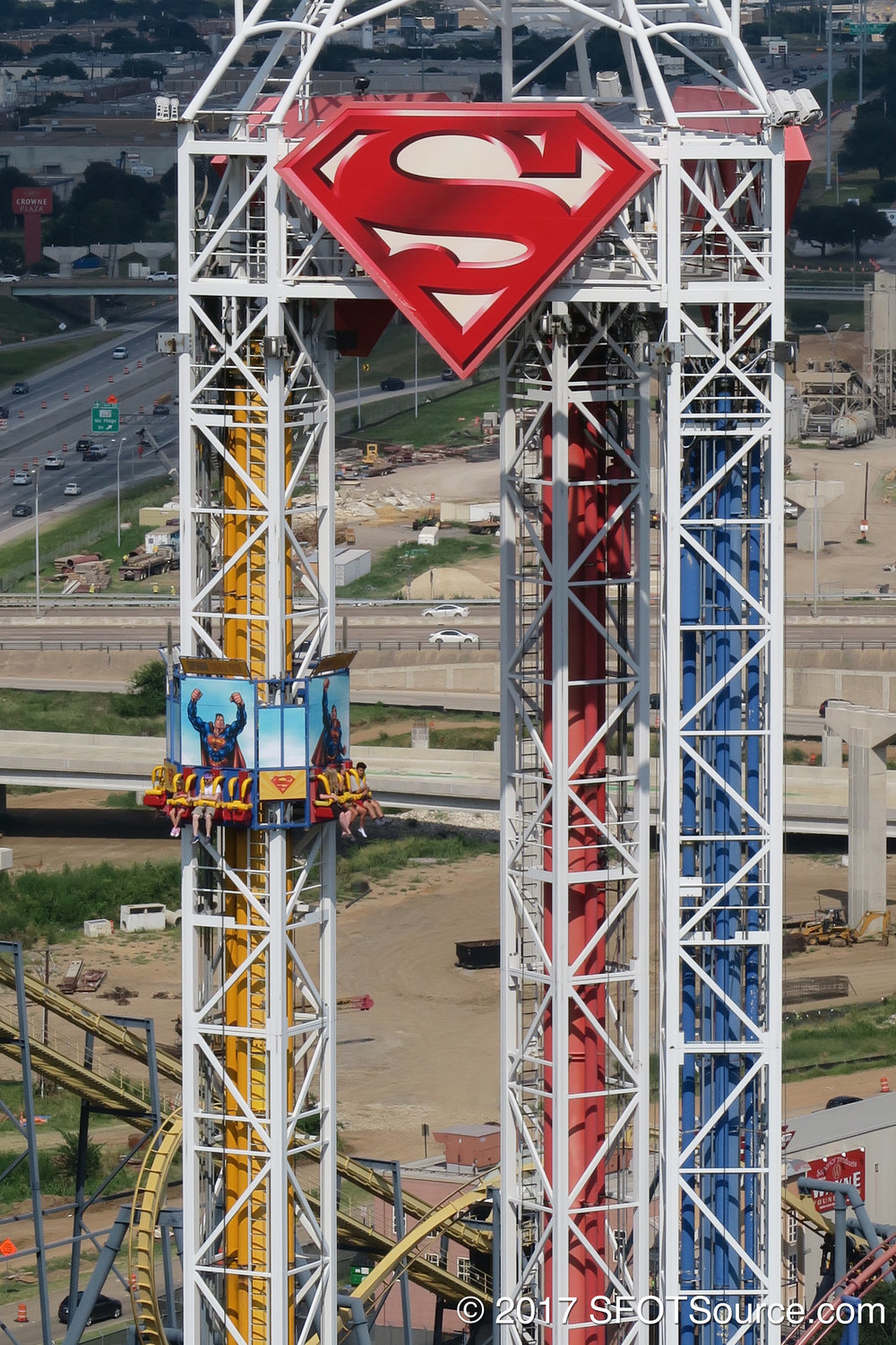 A look at Superman: Tower of Power from Oil Derrick.