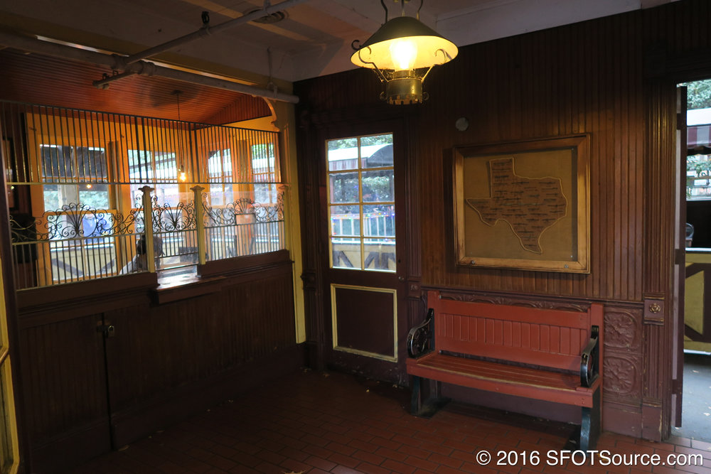 The interior of Texas Depot.