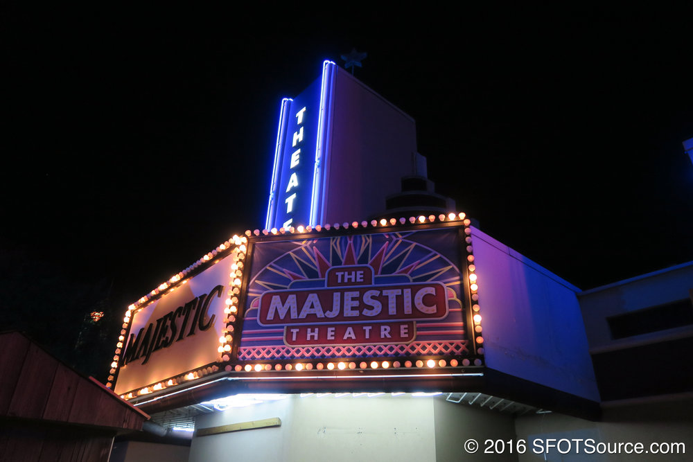 A nighttime look at Majestic Theatre.