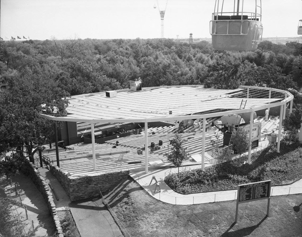 Amphitheater - From 1961 to 1967 Southern Palace Theatre was simply known as just the Amphitheater. It was an outdoor venue that produced live shows throughout the season.For the 1968 season, Six Flags Over Texas transformed the Amphitheater into an indoor performance venue with a proscenium-style stage. This is likely due to the Texas heat that can be brutal during the summer months.The seating structure from the Amphitheater to Southern Palace Theatre is actually the same. Today, the seating structure has been carpeted. When the park built around the Amphitheater they actually engulfed one of the AstroLift support structures. Many old pictures show the AstroLift structure sticking out of the top of Southern Palace.
