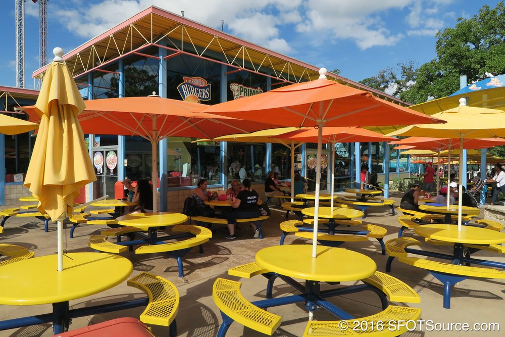 A look at the outdoor seating available.