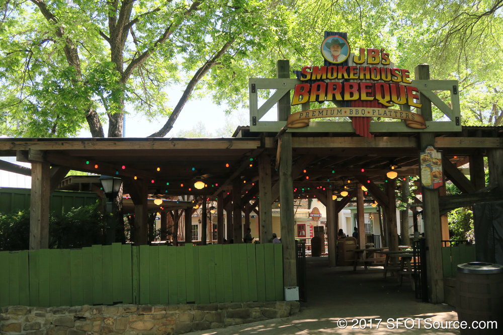 JB's is also accessible from the park's Texas section.
