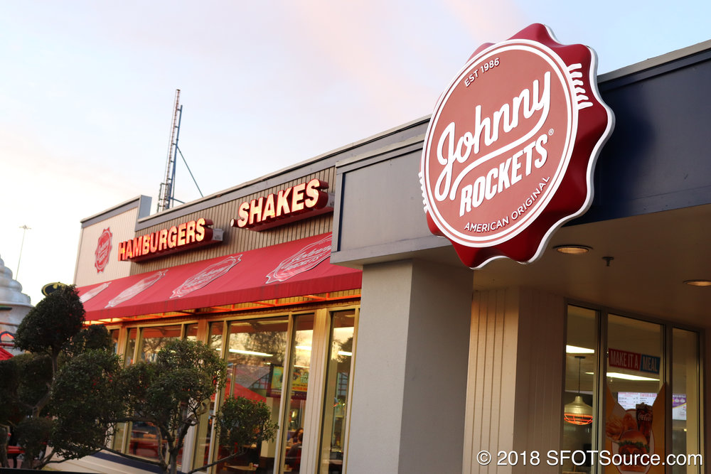 The exterior of Johnny Rockets.