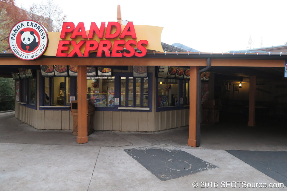 A look at the ordering area of Panda Express.