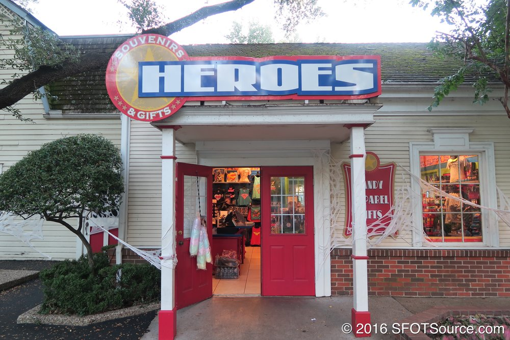 Heroes is an indoor gift shop.