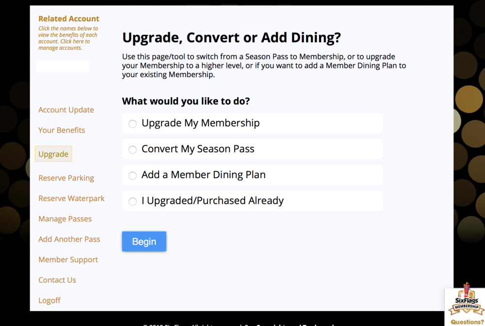 """Once you click """"Upgrade"""" you will be brought to this page. Pick the option that applies to you and follow the prompts. This is very simple but make sure you read all directions carefully in order to upgrade successfully."""
