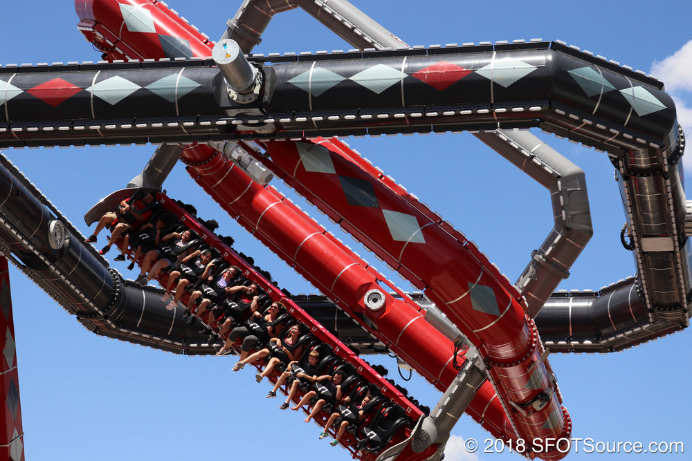 The ride features three levels of spinning.