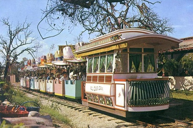 An early look at the Fiesta Train. Credit: Six Flags Archives