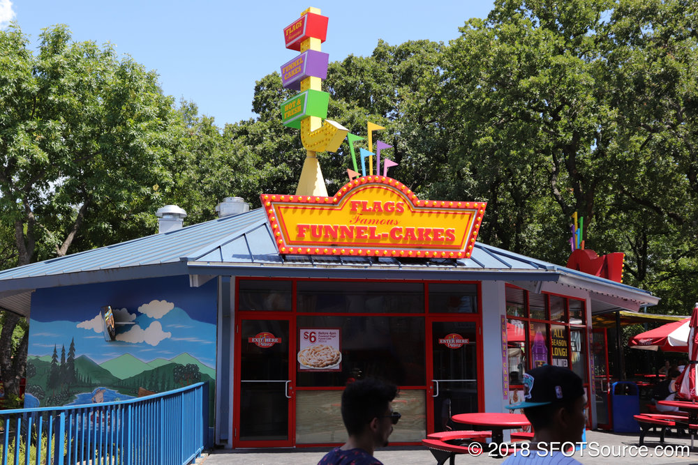 A look at the exterior of Flags Funnel Cakes.