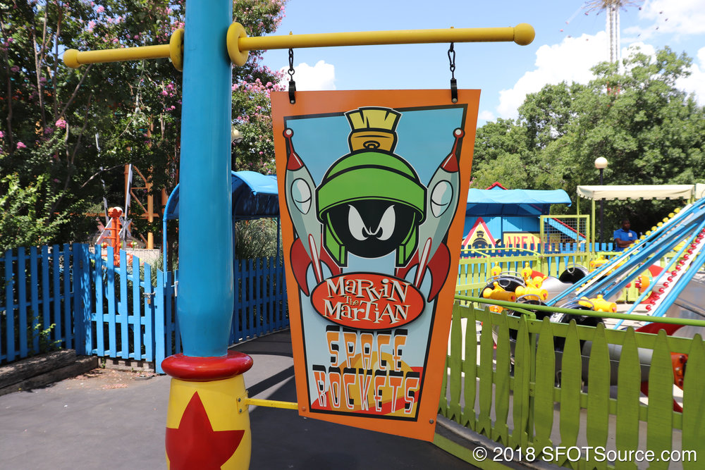 The sign for Marvin the Martian Space Rockets.