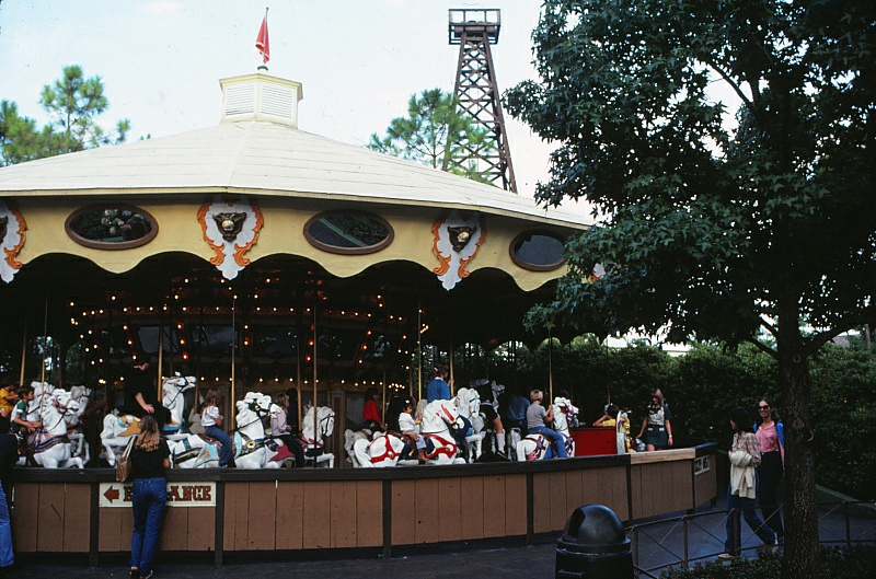 Silver Star Carousel as it looked in Boomtown. Credit: Six Flags Archives