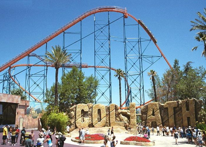 Goliath at Six Flags Magic Mountain. Credit: Joe Schwartz