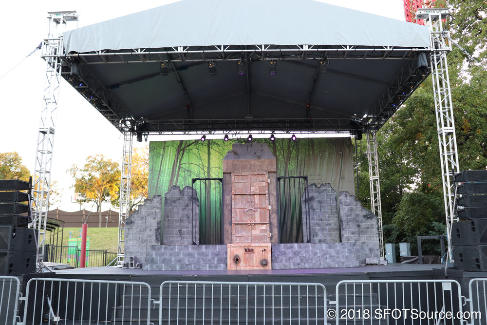 Gotham City Stage during Fright Fest.