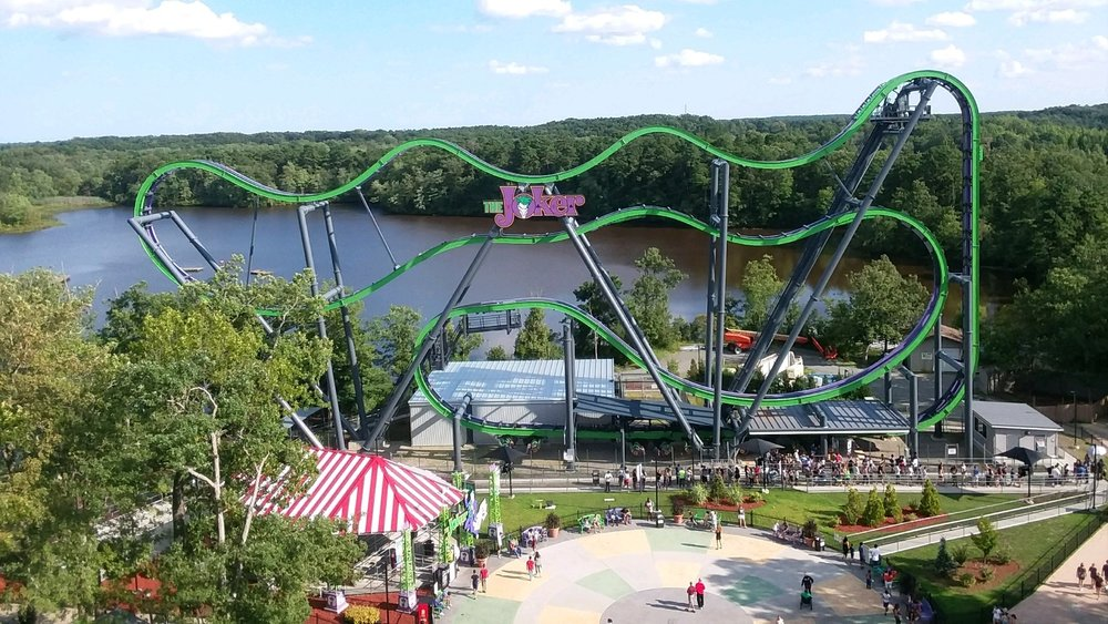 The Joker at Six Flags Great Adventure.