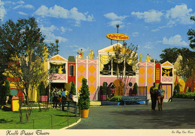 The Krofft Puppet Theatre. Credit: Six Flags Archives