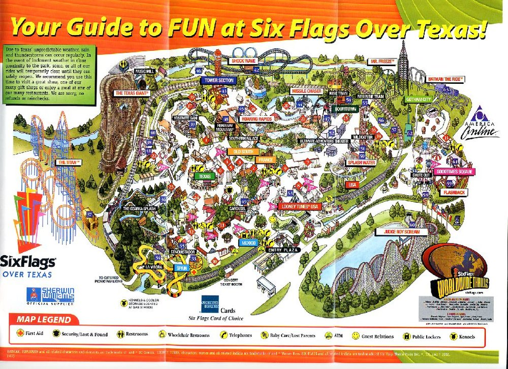 History Timeline Six Flags Over Texas Sfot Source