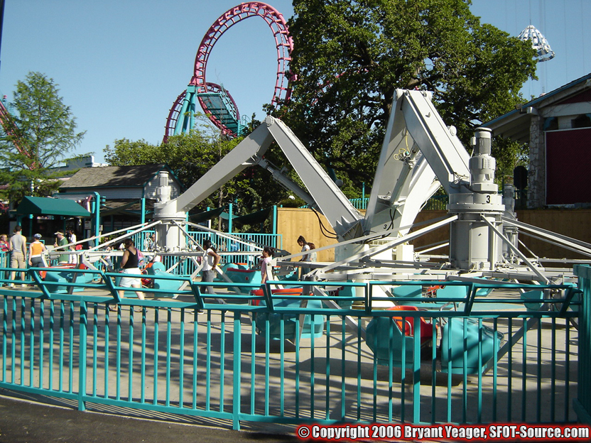 This attraction first opened in 2006 as Crazy Legs.