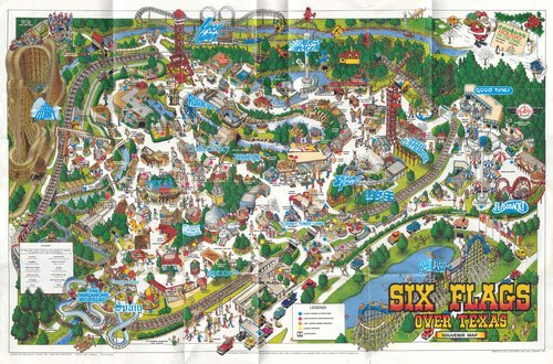 Past Park Maps Six Flags Over Texas Sfot Source - Map-of-amusement-parks-in-the-us