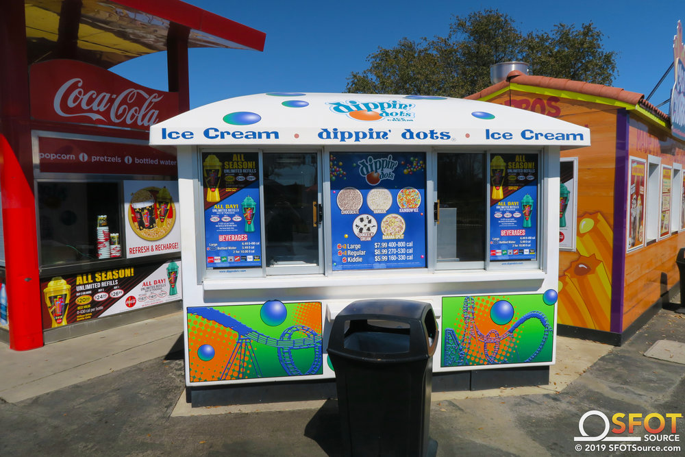 Gotham City Dippin' Dots features multiple Dippin' Dots ice cream flavors.
