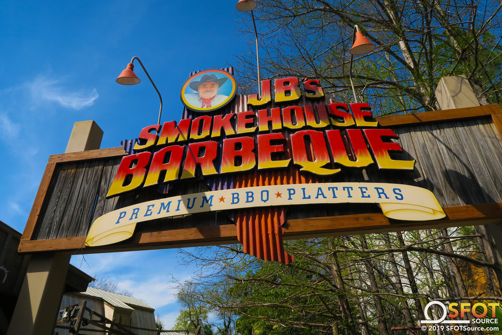 JB's Smokehouse BBQ is located in the park's Old South section.