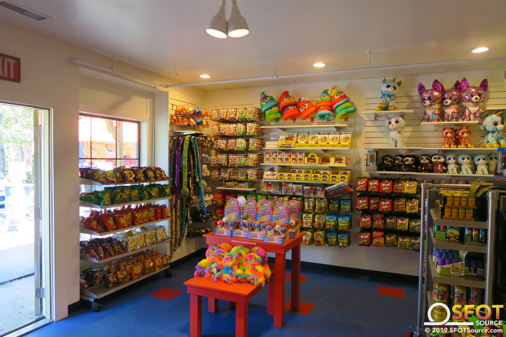 Texas Gifts features candy and other toys.