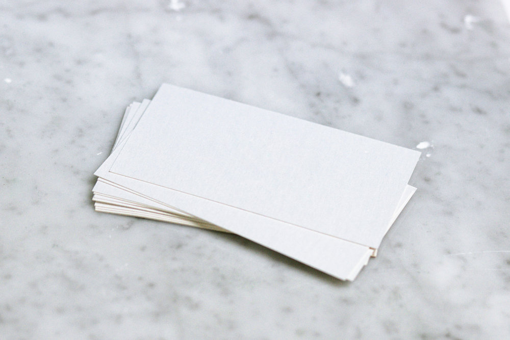 YOUR NAME HERE? 😱 No! Stand out from the sea of white and cream when you create your business card.