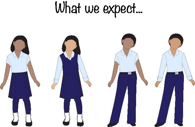 What we expect! School uniform.
