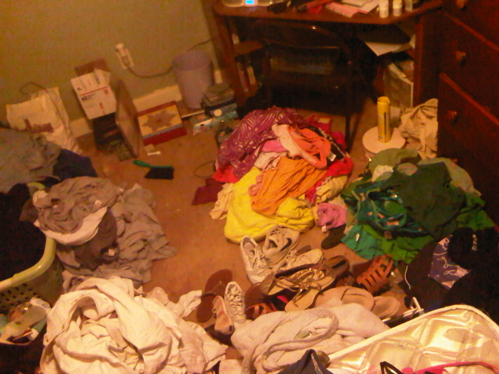 Clothes on the floor