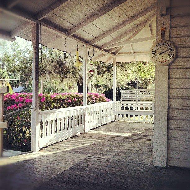 Grandma's porch in March
