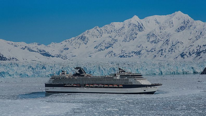 Celebrity Millennium sailing at Hubbard Glacier, Alaska