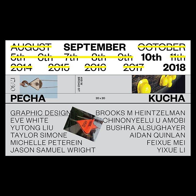 #VCUarts #gdes MFA Pecha Kucha is happening this evening!✌️