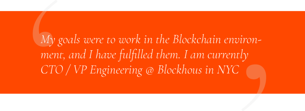 Stephane, Blockchain Bootcamp Graduate, now Chief Technology Officer At Blocichain Startup