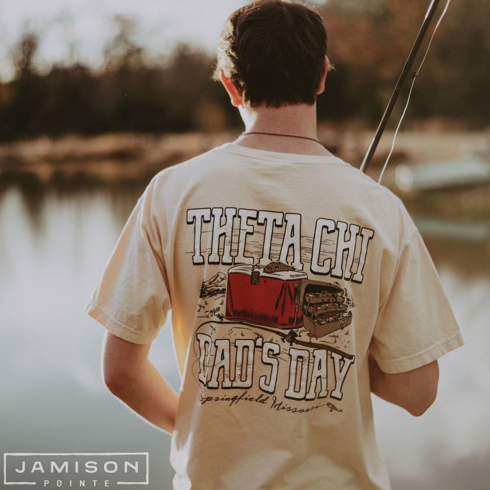 Theta Chi Dads Day Fishing T-shirt