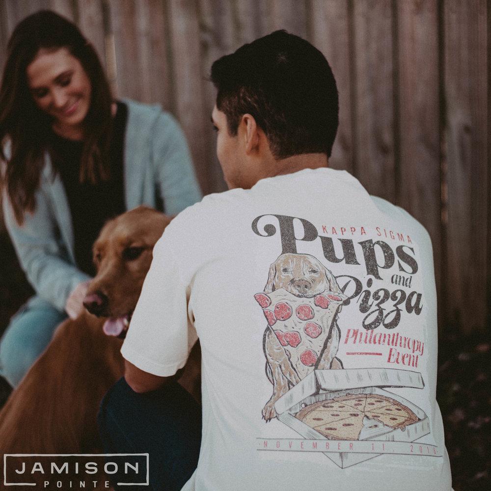 Kappa Sigma Pups and Pizza Philanthropy Tee