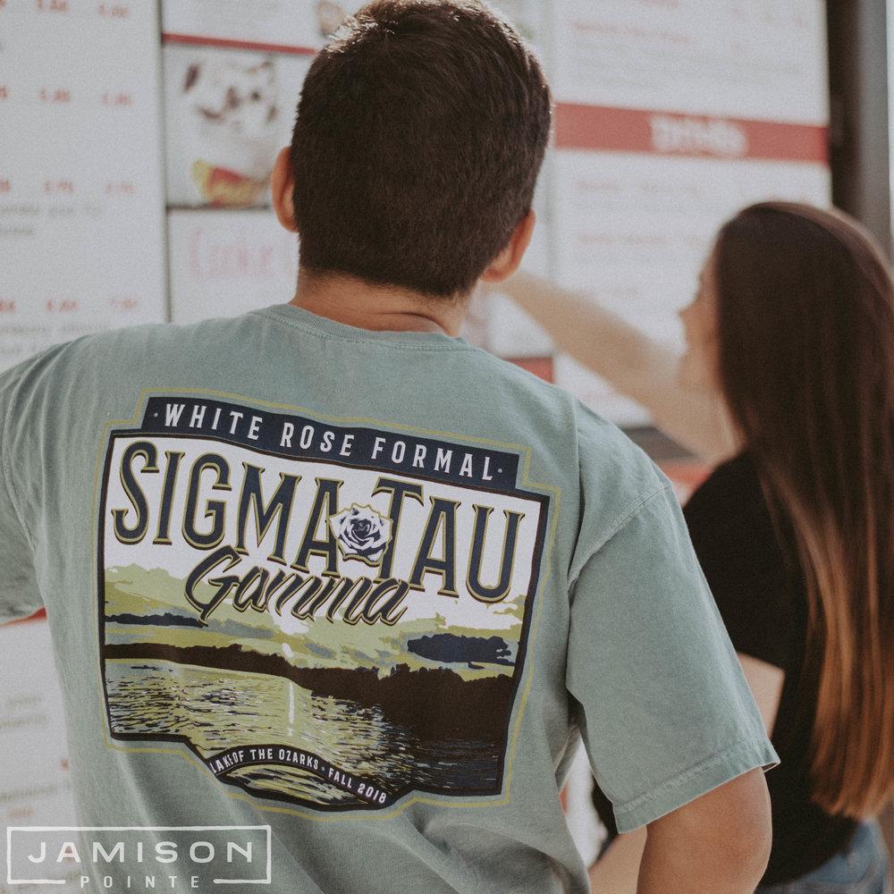Sigma Tau Gamma White Rose Formal T-shirt