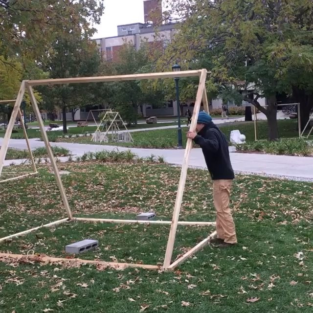 Thanks to all of the many TentWorks artists! Especially @nancywinshipmillikenstudio and @starwatcherbrevik for building the frames. The frames will go to community gardens to grow on.