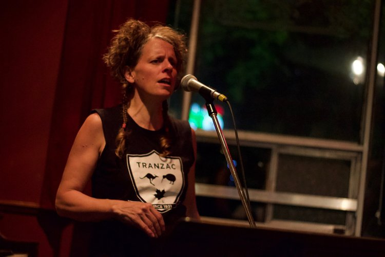 Rebecca Campbell''s vocal magic at our Trio Gig at the Tranzac. Photo by Yuske Frutate