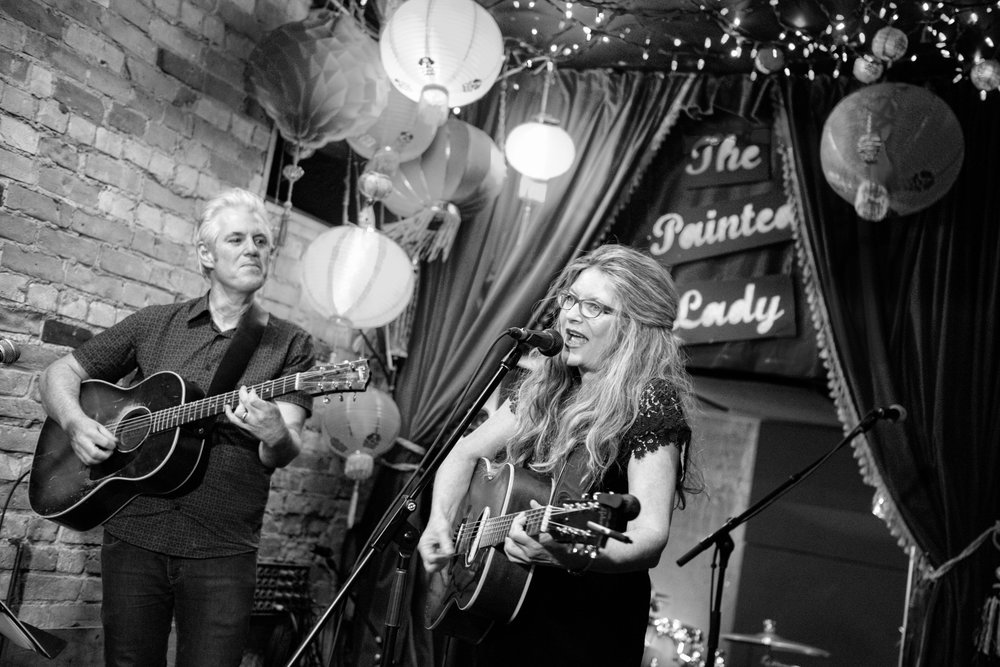 Steve Briggs and Isabel at the Painted Lady. Photo by Lori Whelan