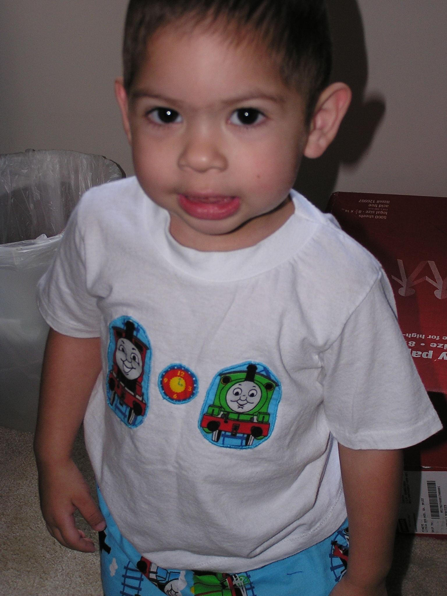My lovemuffin in his Thomas Shirt