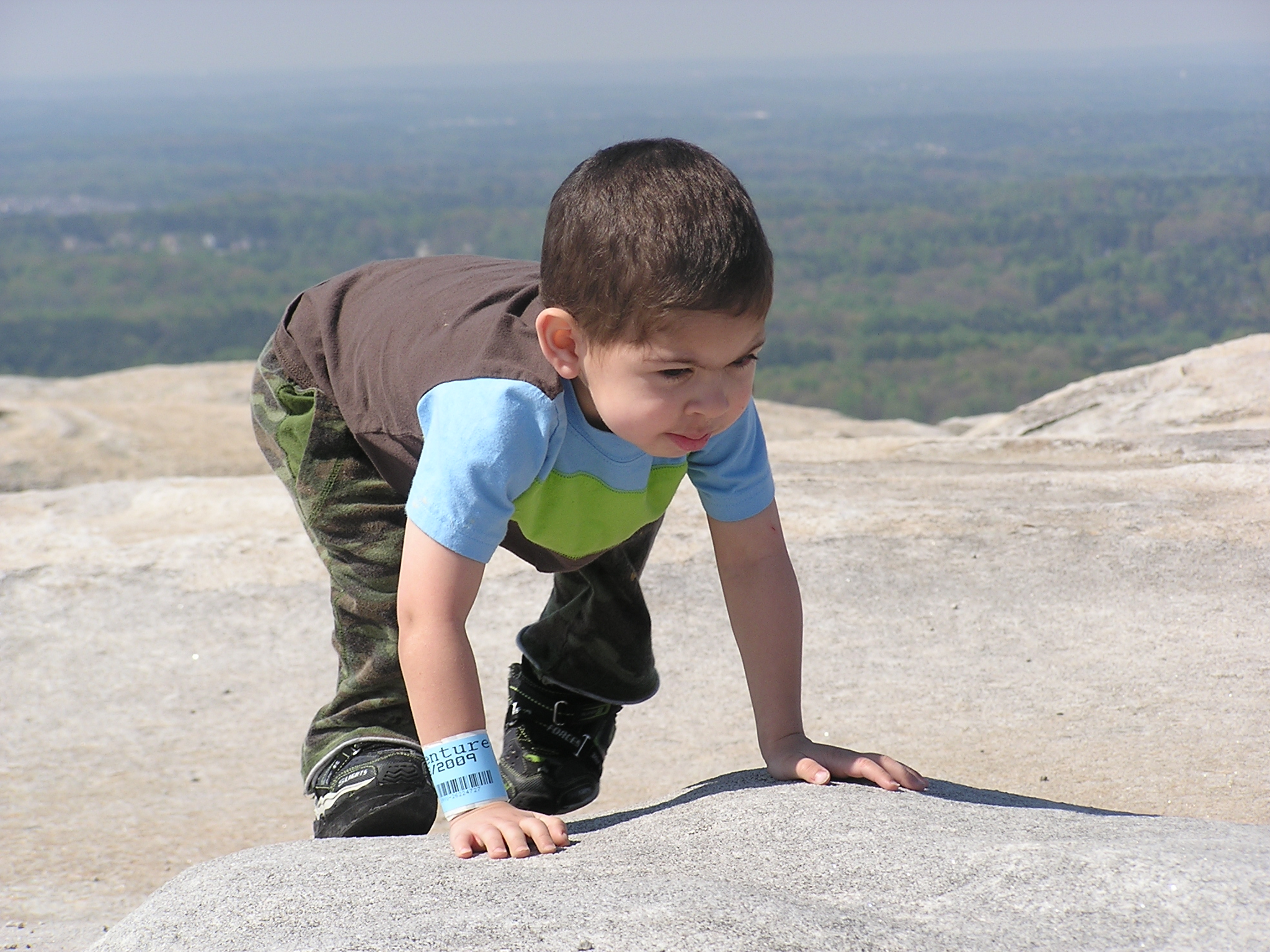 Julian at the top of Stone Mountain.