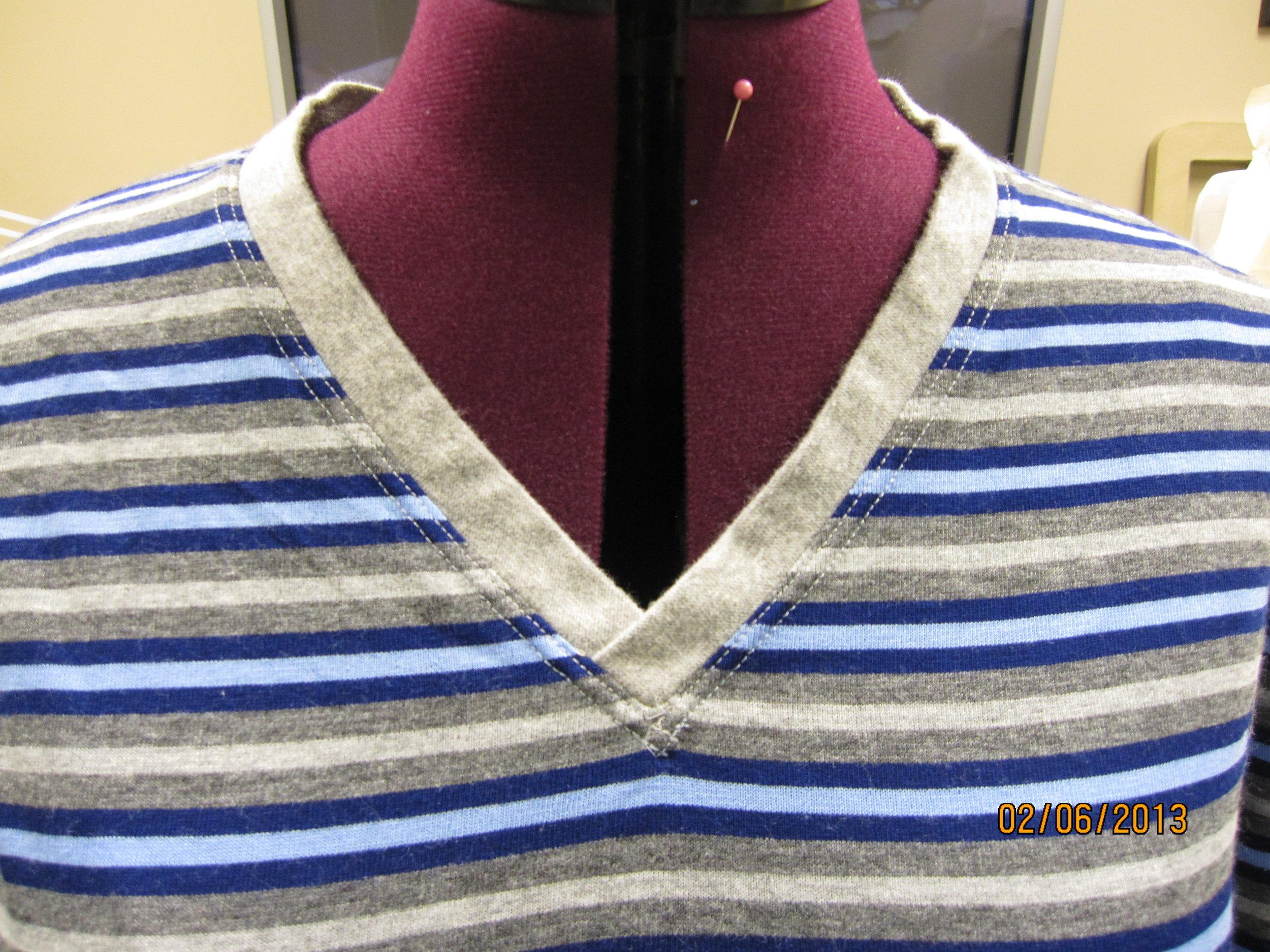 The neckline.