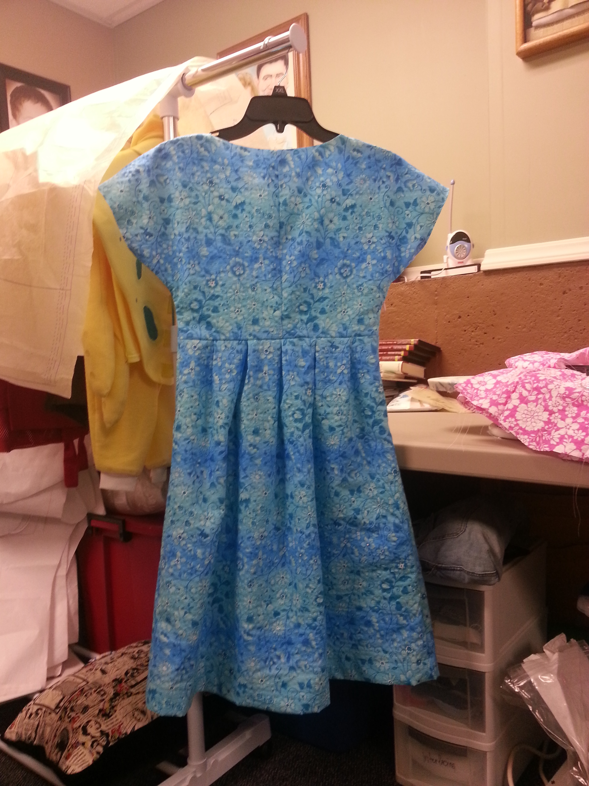Samira Blue dress back 2013