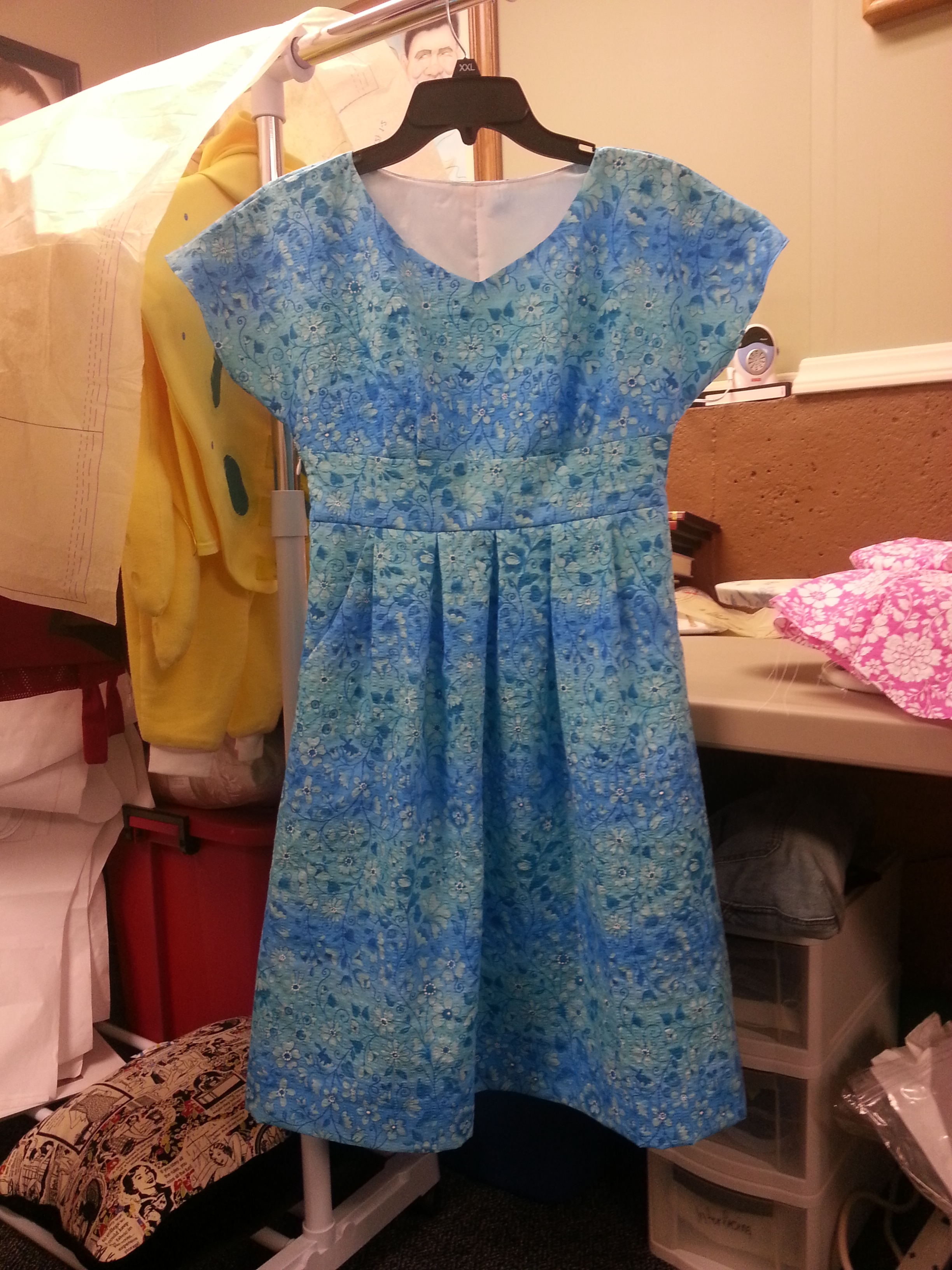 Samira Blue dress front 2013