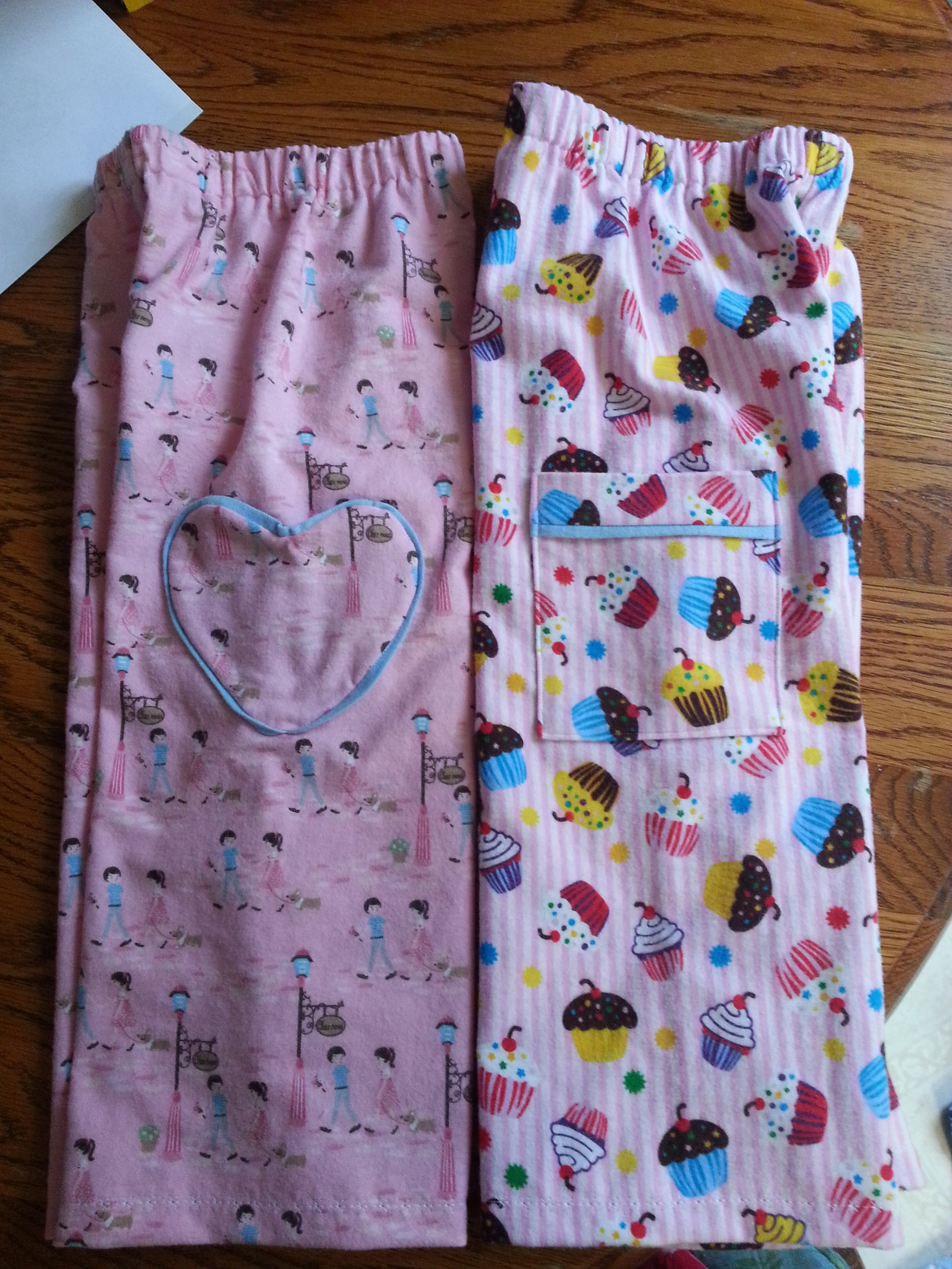 These are L's pajama pants. She loves pink.
