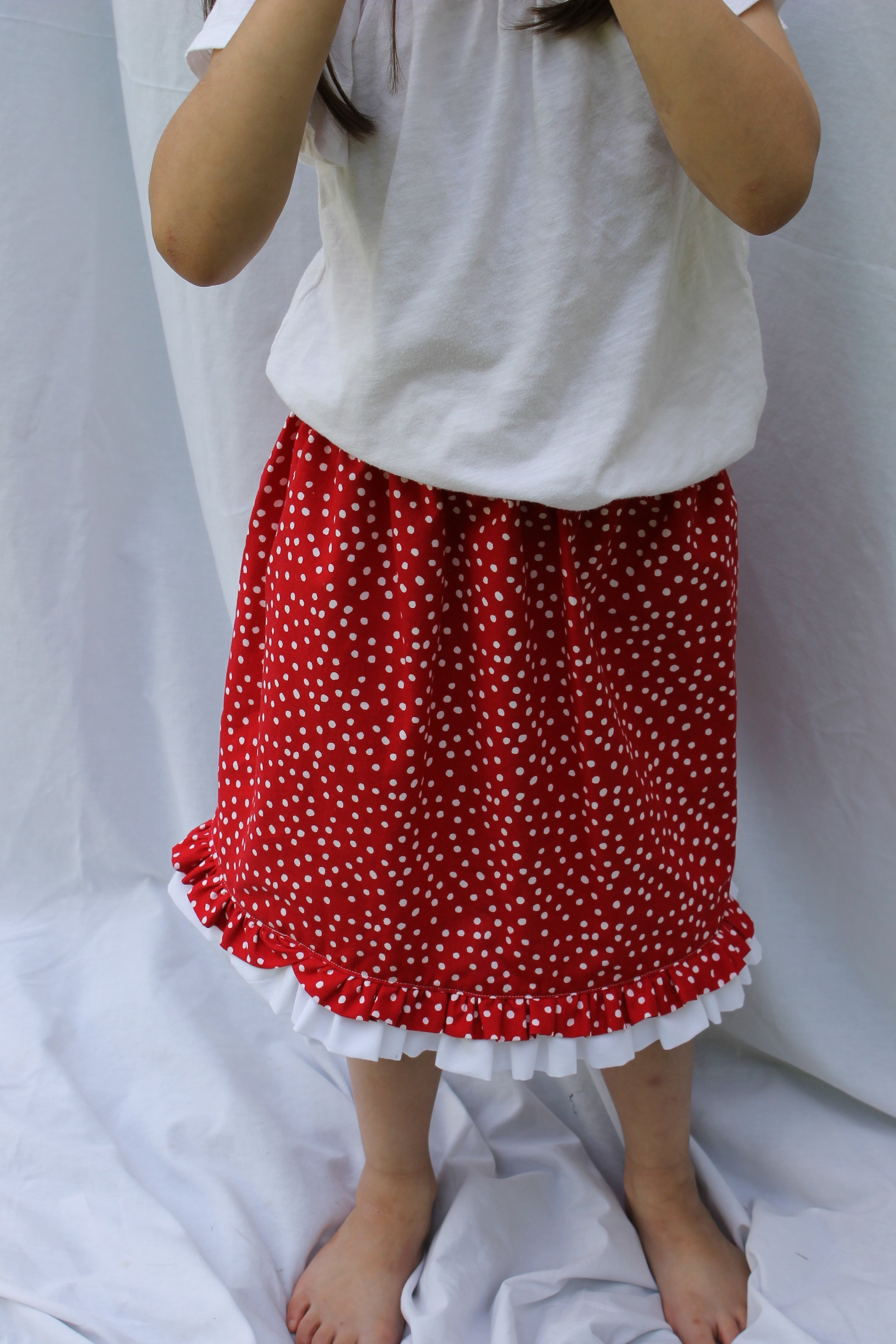 Red and white polka dots. So cute!!